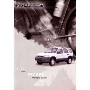 2002 FORD ESCAPE Owners Manual User Guide Automotive