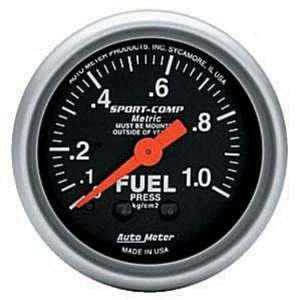 Meter Sport Comp Analog Gauges Gauge, Sport Comp, Fuel Pressure, 0
