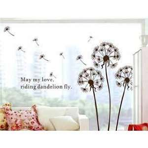 Dandelion Reusable Wall Applique Stickers DIY