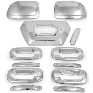 High Quality Weatherproof Chrome Tailgate 4 Door Handle Half Mirror