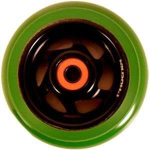 Phoenix Metalcore 6 spoke Green Black Wheel 100mm