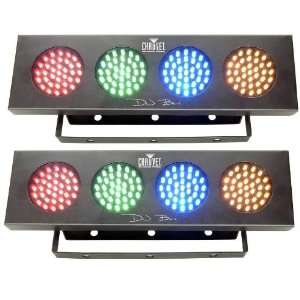 2 NEW CHAUVET DJ BANK COLOR LED EFFECT LIGHTS COLORBANK