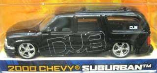 Jada Dub City 2000 Chevy Suburban RARE Set of 2 1/64