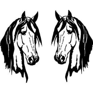 Horse Head Decals Two 19 x 11, 6yr. Outdoor Grade Car Truck Barn Made
