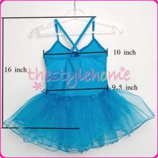 Girl Fairy Ballet Tutu Leotard Dance SKIRT SZ 4 5T Blue