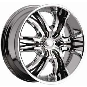 Cattivo 767 22x9.5 Chrome Wheel / Rim 5x135 & 5x5.5 with a 15mm Offset