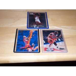 skybox #29, 96/97 fleer #13, Chicago Bulls basketball trading cards