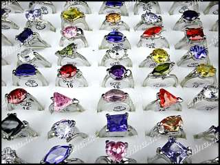 High quality Wholesale jewelry lots 30pcs 100% Pure Zircon Silver