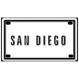 San Diego 2 1/4 X 4 Aluminum Die cut Sign Arts, Crafts