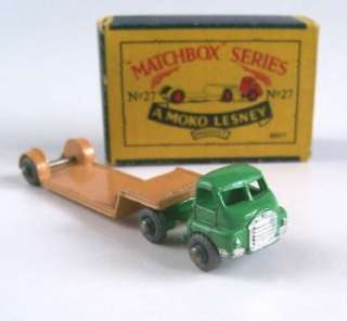 MATCHBOX MOKO LESNEY 27a BEDFORD LOW LOADER, 1956, MIB