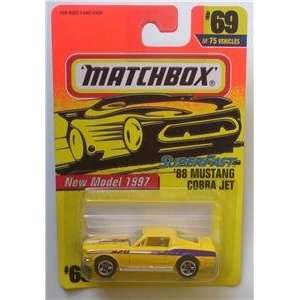 68 Ford Mustang Cobra Jet #69 1st Ed.1997 Matchbox Car