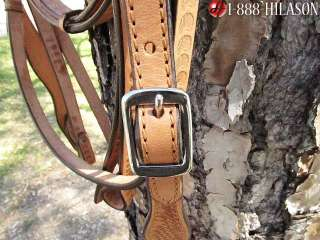 PA267 WESTERN LEATHER TACK HORSE BRIDLE HEADSTALL WITH REINS