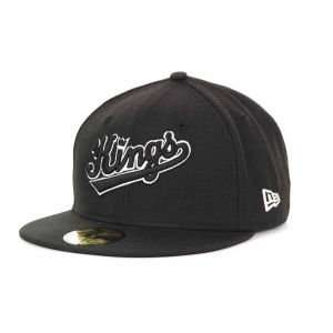 Sacramento Kings New Era 59FIFTY NBA Hardwood Classics Black White Cap