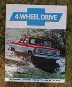 1976 Chevy 4WD Pickup Truck Brochure 76 Chevrolet