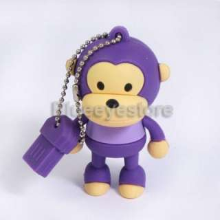 New 2GB 4GB 8GB 16GB Cartoon Monkey USB 2.0 Flash Memory Pen Drive