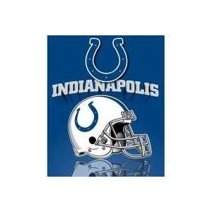 Indianapolis Colts Light Weight Fleece NFL Blanket Grid