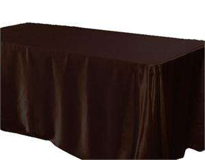 RECTANGLE SATIN TABLECLOTH wedding party favors wholesale   4 COLORS