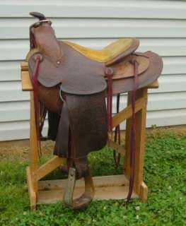 14 Inch Western Pleasure, Trail, Roping or Barrel Saddle with Round