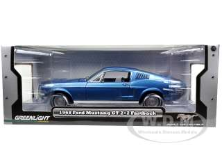 scale diecast model car of 1968 Ford Mustang GT 2+2 Fastback Acapulco