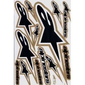 Alpinestar ATV Racing Graphic Sticker Decal 1 Sheet AS12P