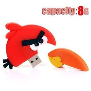 Angry Birds Design 8GB USB Flash Drive Flash Memory U Disk   Red Bird
