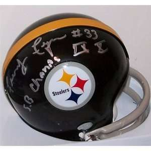 Frenchy Fuqua Autographed/Hand Signed Mini Helmet   Pittsburgh