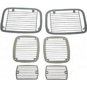 87 95 JEEP WRANGLER STONE GUARD SUV, Set, 6 pieces, Billet