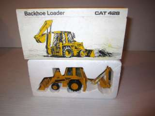 NZG Caterpillar 428 Loader Backhoe Tractor, Slide A Hoe