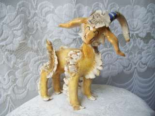 ARL Paris Ceramic Art Figurine Animal Ram Goat Big Horn