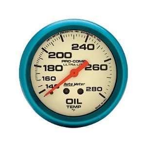 Auto Meter Ultra Nite Analog Gauges Gauge, Ultra Nite, Oil Temperature