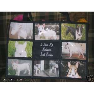 I Love My Miniature Bull Terrier Personalized Photo Tote