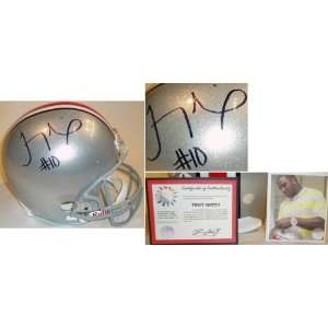 Troy Smith Signed Ohio State F/S Replica Helmet Sports
