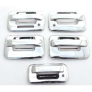 Doors) Chrome Door Handle & Tailgate Covers with keypad & psg keyhole