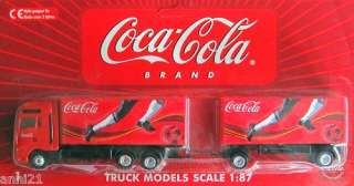 COCA COLA COKE GERMANY TRUCK MAN TG 460 SEMI TRAILER 187 HO