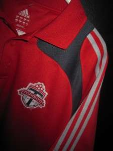 MINT MENS L AUTHENTIC ADIDAS TORONTO FC JERSEY POLO SHIRT TFC MLS
