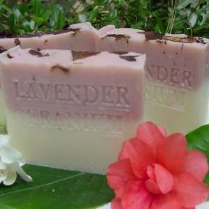 Egyptian Geranium with Rose Clay, Crushed Flowers and Shea Butter Soap
