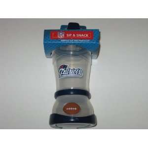 NEW ENGLAND PATRIOTS Team Logo Baby SIPPY CUP and SNACK