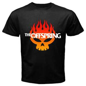 New THE OFFSPRING Rock Band Black T Shirt Size S XXL