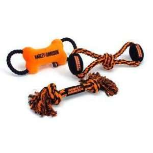 C Harley Davidson Plush Toy bone Rope Tug