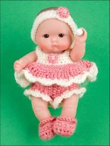 Crochet Patterns ITTY BITTY Baby Fashion 5 Doll CLOTHES Bride Groom