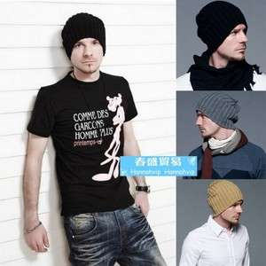 Hot Fashion Soft & Warm Cool Mens Winter Wool Cap Snow Hat hats PF705