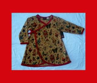 Punk Red Tattoo Long Sleeve Rockabilly skull dice toddler baby girl