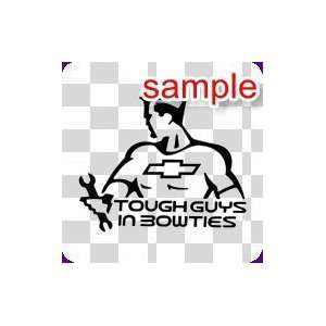 RANDOM TOUGH GUYS IN BOWTIES 10 WHITE VINYL DECAL STICKER