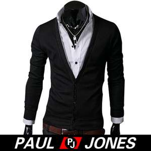Slim Fit Comfort Knit Sweaters V neck Jackets Coats PJ CARDIGAN