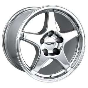 17x9.5 Detroit Style 840 (Chrome) Wheels/Rims 5x120.7 (840