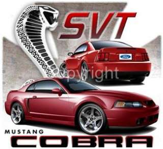 Ford Mustang Cobra SVT Coupe Licenced Tshirts 2003