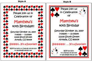 Vegas Gambling Casino BIRTHDAY Party Personalized Invitations