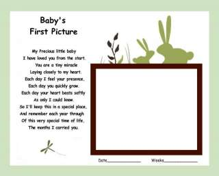 unframed print BUNNY MEADOW Baby gift ultrasound poem