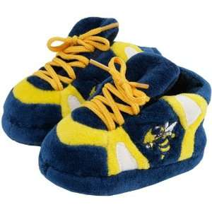 Yellow Jackets Infant Navy Blue Sneaker Slippers