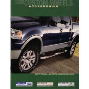2005 FORD LINCOLN MERCURY Custom Wheels Sales Brochure Automotive